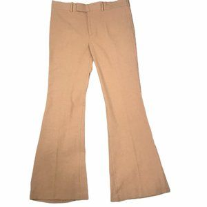ZARA Camel Flared Pants/Slacks